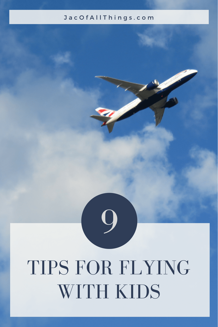 Traveling with kids can be tough! Here are some tips and tricks for staying sane in the air.