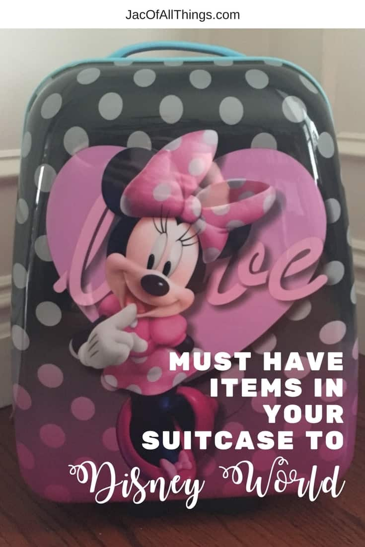 Everything you should have in your suitcase for your trip to Disney World! Learn what to pack for the whole family and a list of the must have items that you don't want to forget while traveling. Contains must-have items for babies, toddlers, kids, and adults so you can enjoy your trip and not worry about forgetting something at home.