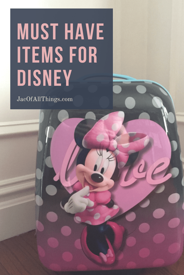 Are you packing for Disney? Don't forget these essential items in your suitcase when packing for Walt Disney World (with kids). #Disney #packing