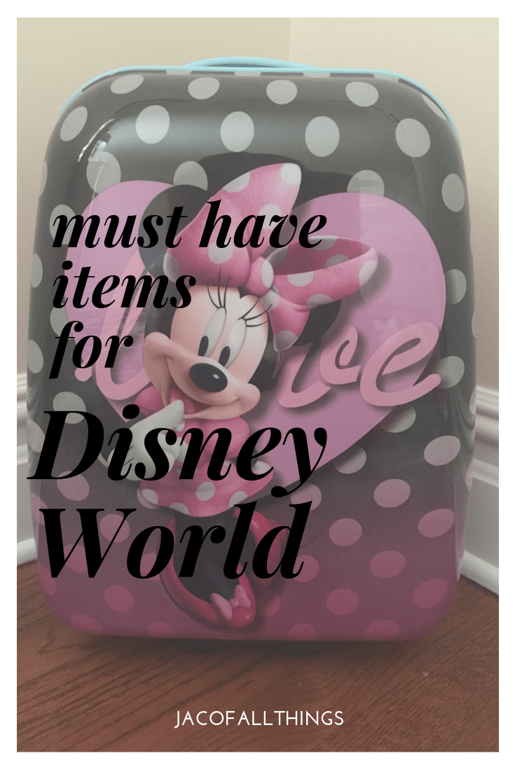 Are you packing for Disney World? Read this list of items you must have in your suitcase for your upcoming Disney World trip. Be prepared for your travel with these packing necessities! #disneyworld #disney #packingtips
