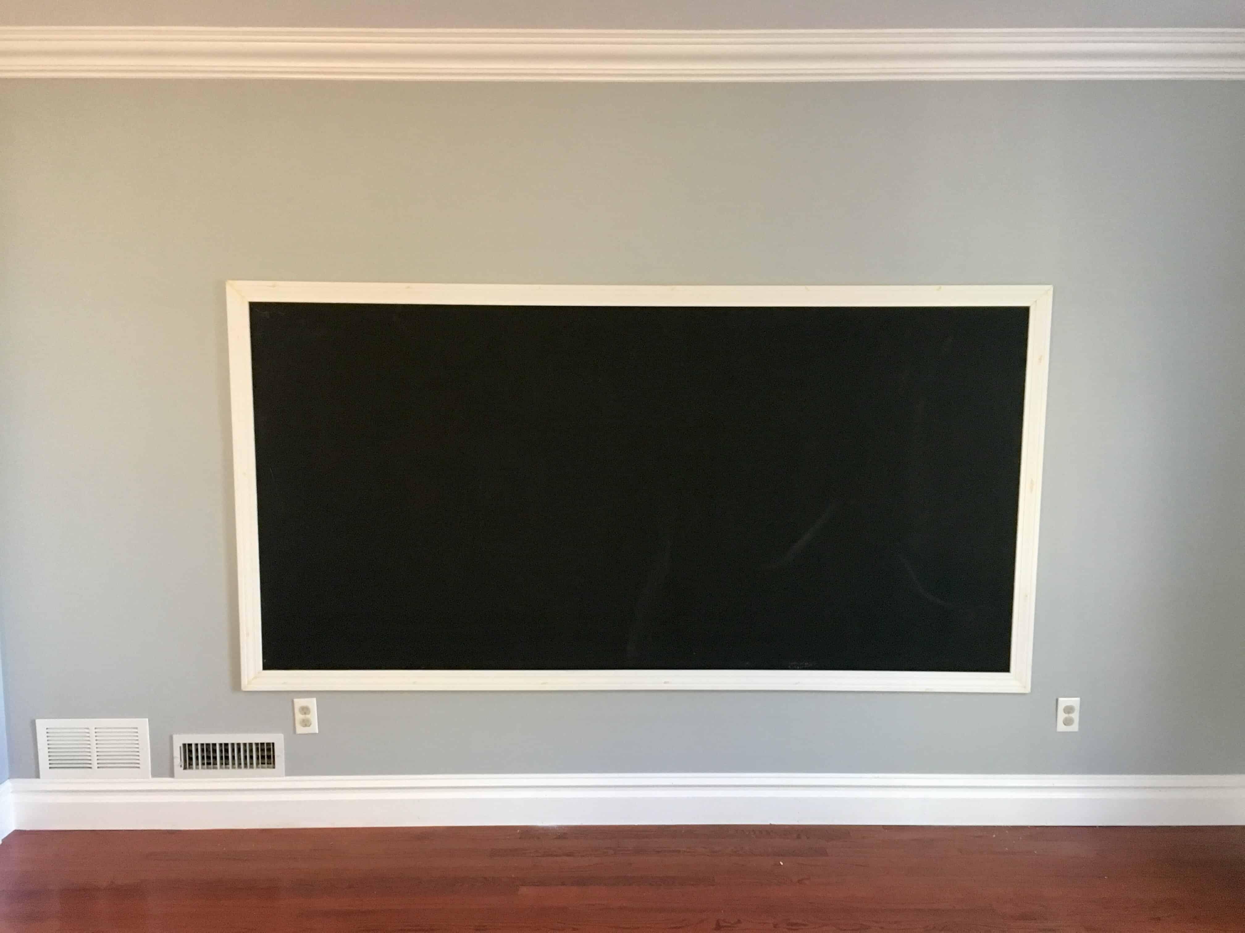Chalkboard before seasoned