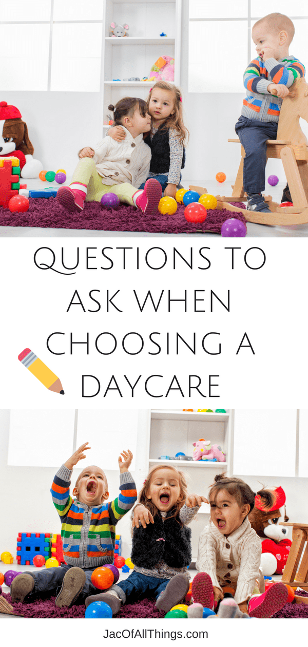 Choosing the right child care provider is an important task! Read on to learn the top questions to ask your potential daycare provider/childcare provide to ensure your child is in the best hands. This complete checklist for choosing a daycare covers all of the top questions you should ask when interviewing and touring a school and child care provider. Make sure your baby, infant, or toddler is in good hands while at daycare/preschool. Use this ultimate checklist to choose the perfect daycare.