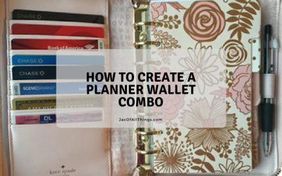 How to Create a Planner Wallet Combo