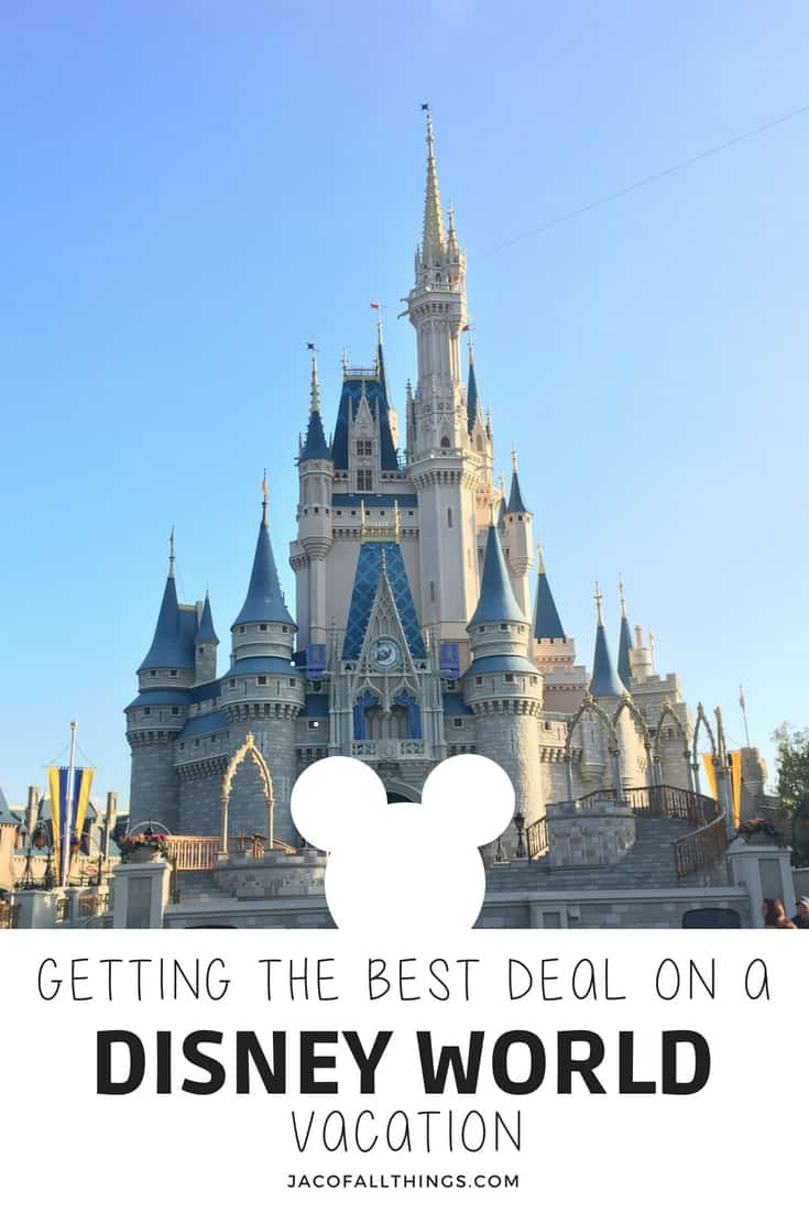 Are you wondering how you can save money on a trip to Disney World? Learn how we planned a trip for our family of four to Walt Disney World for under $1850! (Including a 6 day stay at a deluxe resort, four-day park tickets, and airfare!) Read all the tips and tricks to save money, get the best discounts and deals, and do Disney World on a reasonable budget! Plan a fun trip for the family without going broke! Disney World on the Cheap! #disney #disneyworld #deals