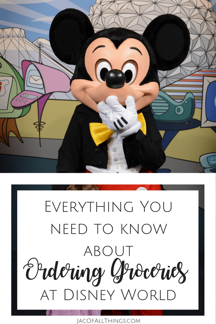 Disney grocery delivery tips and tricks! A comparison of all of the options to order food to your room at Disney World. Includes a comparison of Amazon, Shipt, Instacart, Garden Grocer, and WeGoShop. #disney