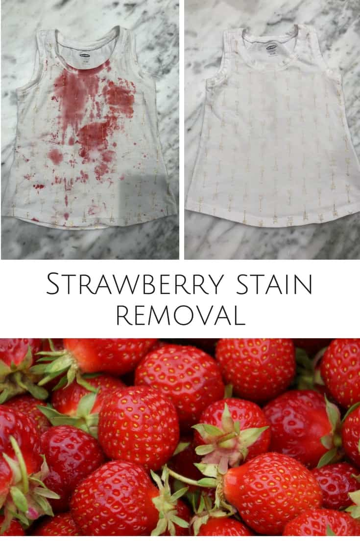 Are you wondering how to remove strawberry stains from clothes? Read more to learn how I was able to get the strawberry stains out of my daughter's shirt with a DIY strawberry stain removal solution! This life hack is like magic!