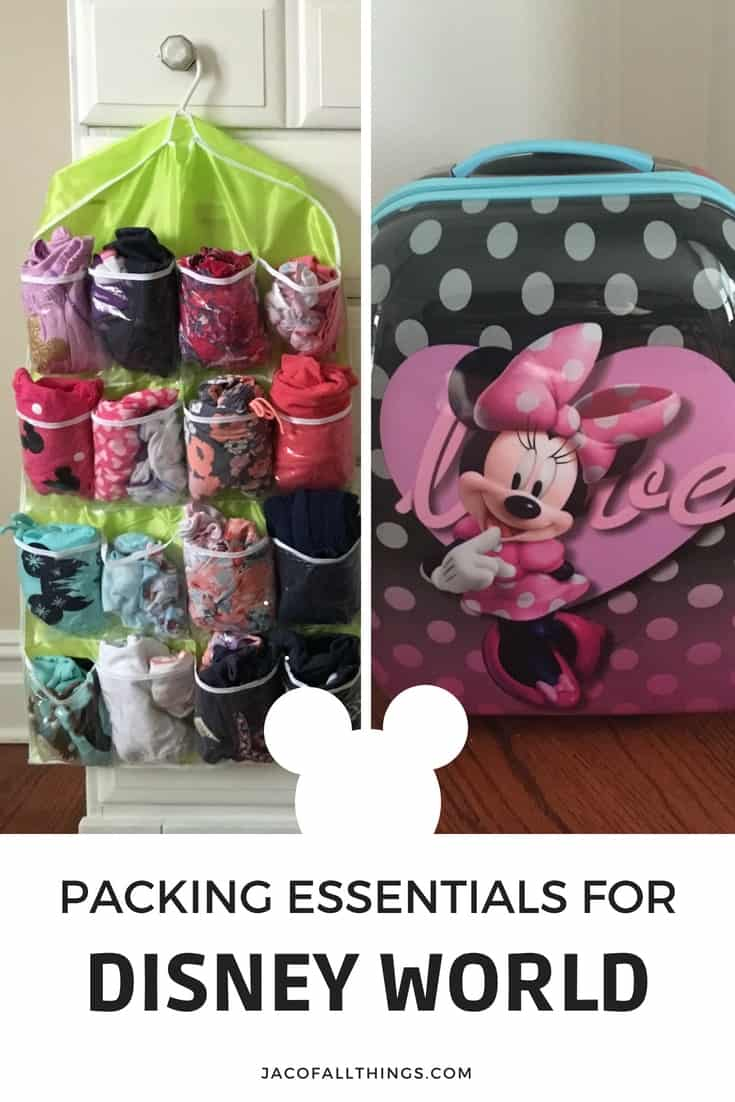 All your packing essentials for your trip to Disney World! Learn what to pack in your suitcase for the whole family and a list of the must have items that you don't want to forget while traveling. Contains must-have items for babies, toddlers, kids, and adults so you can enjoy your trip and not worry about forgetting something at home. #packingtips #disney #disneyworld