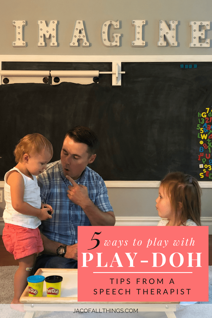 Learn how you can use one simple toy (Play-Doh) in five different ways! Written by a speech therapist on how to use playdough in speech therapy or in just regular play to have fun with toddlers.