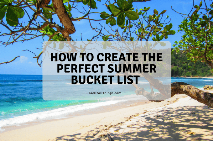 Summer Bucket List Template (and Calendar!)