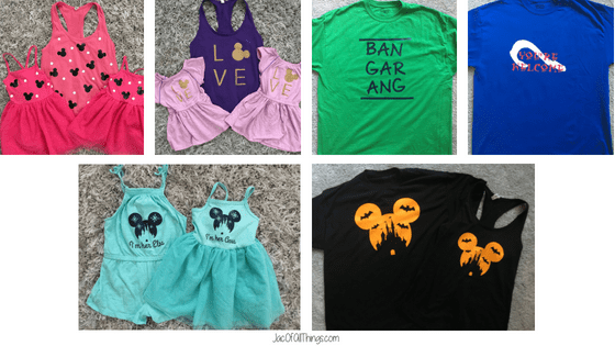 Learn how to make your own shirts for Disney with the Silhouette Cameo. This tutorial is super easy to follow and walks you through everything you need to make your own custom shirts for Disney. #disney #disneyworld #disneyshirts #DIY