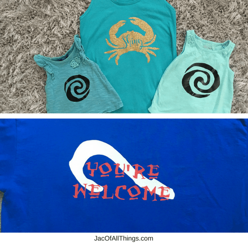 Learn how to make your own shirts for Disney with the Silhouette Cameo. This tutorial is super easy to follow and walks you through everything you need to make your own custom shirts for Disney. #Disney #Moana