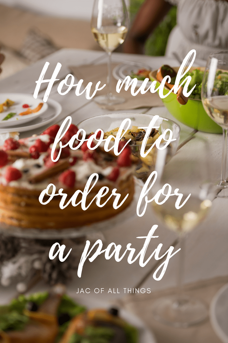 Learn how much food to order for a party! Never question again how much to order for a crowd! Covers calculating the amount of food (including appetizers, and desserts) and drinks needed for a party.