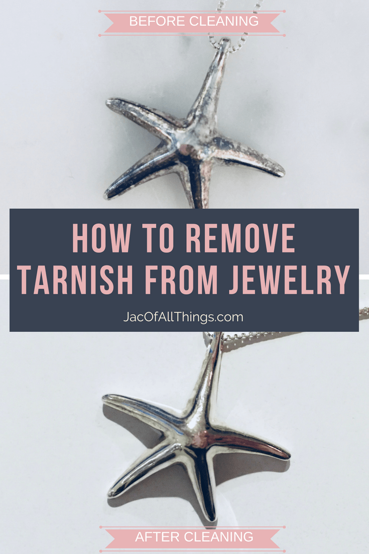 Learn how to remove tarnish from jewelry in minutes. Simple instructions on how to get your silver clean again with common household supplies.