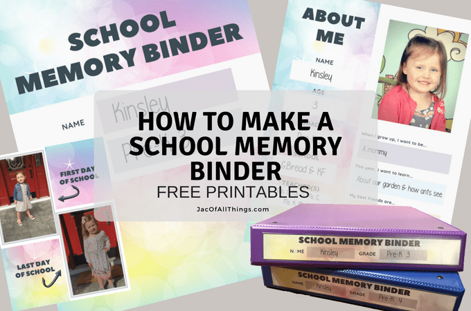 How to Make a School Memory Binder (With Free Printables!)