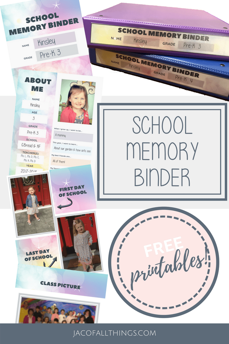 Are you looking for an organized approach to keeping your school papers and artwork together? Learn how to create a school memory binder! Access your free printables and directions for putting together this binder to keep school work and memories organized. #schoolorganization #backtoschool