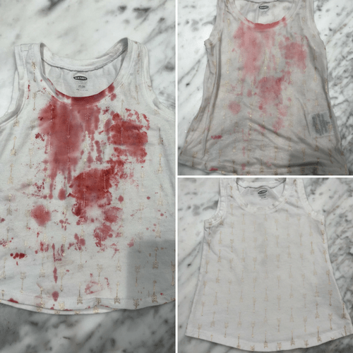 strawberry stain removal from clothes