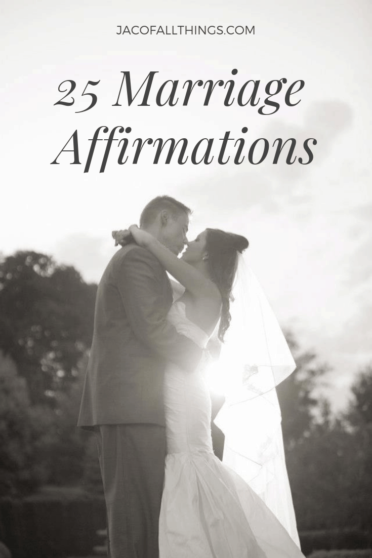 Read these positive marriage affirmations for a healthy relationship. Speak these positive words on a daily basis about your husband or wife and grow together as a strong couple. #marriage #affirmations