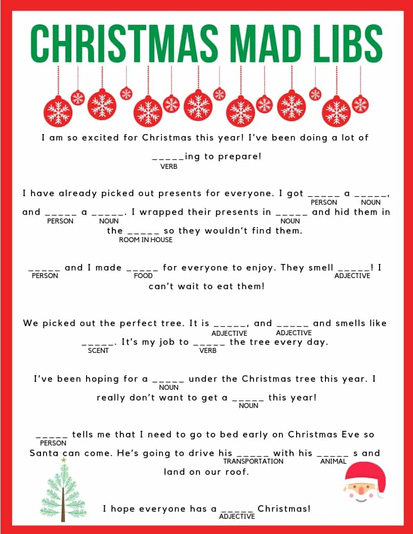 This is a picture of Fan Mad Libs Printable