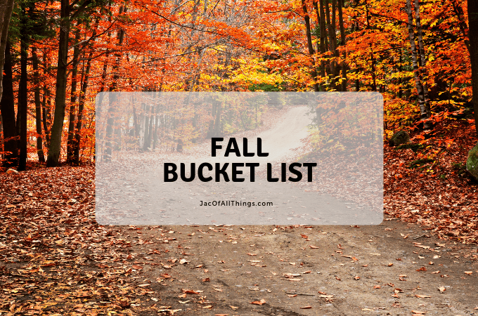 The ultimate fall bucket list guide! Includes activity ideas for kids and for families. Plan out which activities to do with kids in the fall and plan them with a free printable bucket list and calendar. #fallbucketlist #fallactivities