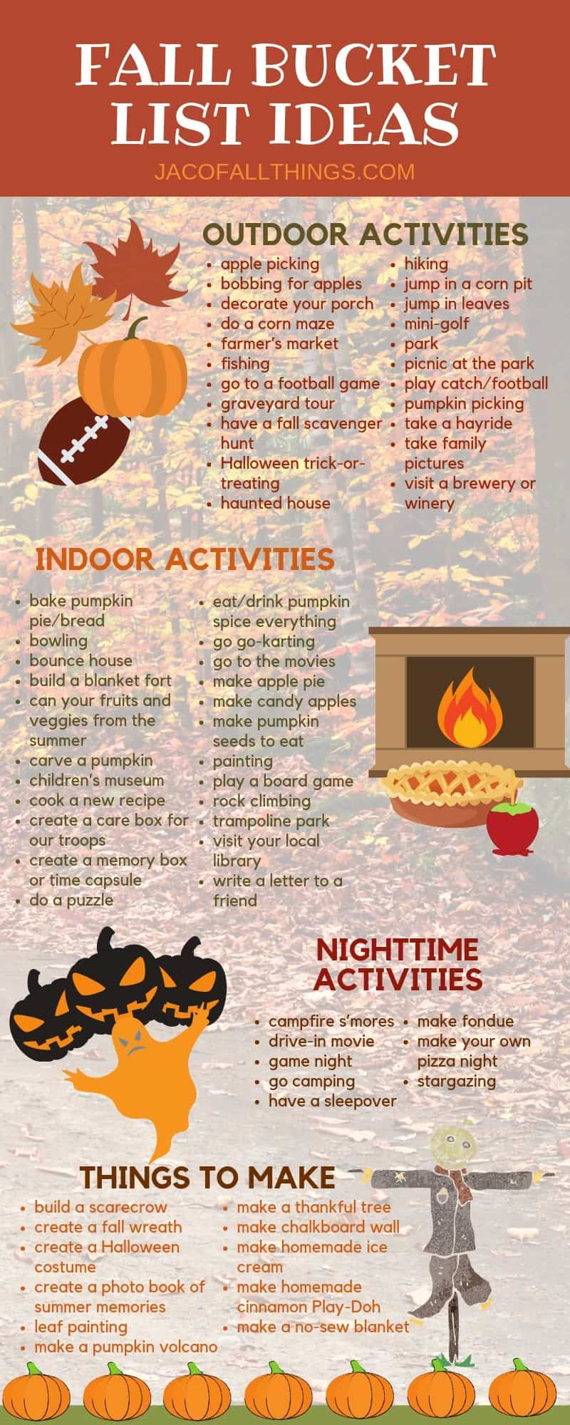 Have fun with your family this fall with these fall activities! Use these indoor and outdoor fall activity ideas to create your family fall bucket list!