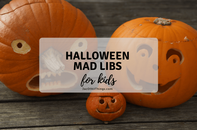 Fun Halloween Mad Libs for Kids!