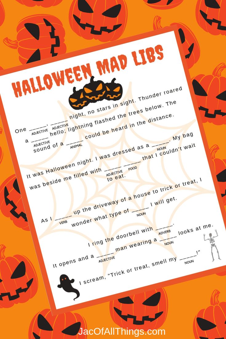 photograph relating to Halloween Mad Libs Printable Free identify Halloween Crazy Libs