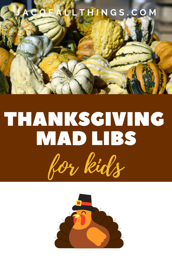 picture regarding Thanksgiving Mad Libs Printable named Thanksgiving Crazy Libs