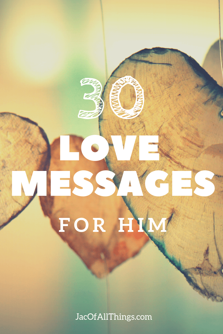 Show the man in your life how much you love him with these love messages. Perfect for your husband or boyfriend! #love #husband #marriage