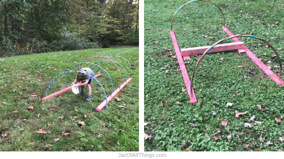 Backyard Obstacle Course Ideas - Hula Hoop