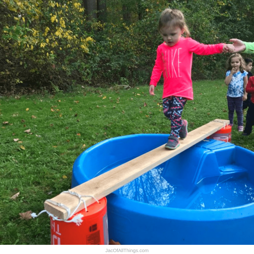Backyard Obstacle Course Ideas - Walk the plank