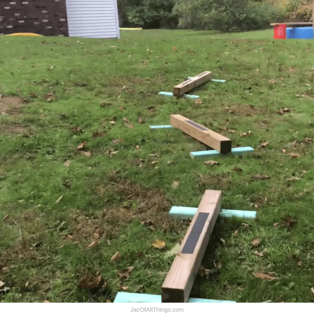 Backyard Obstacle Course Ideas - balance beams