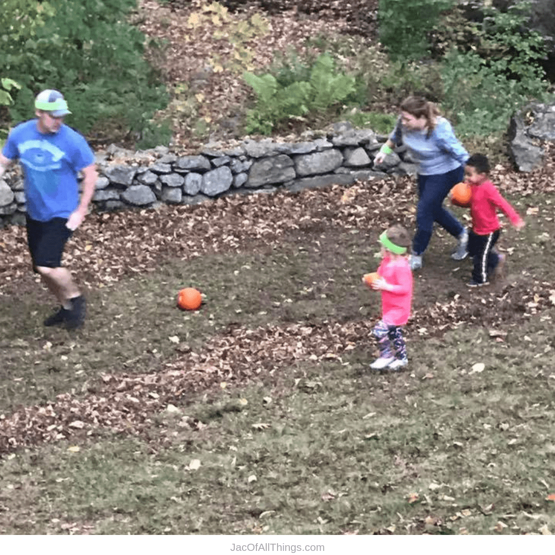 Backyard Obstacle Course Ideas - pumpkin carry