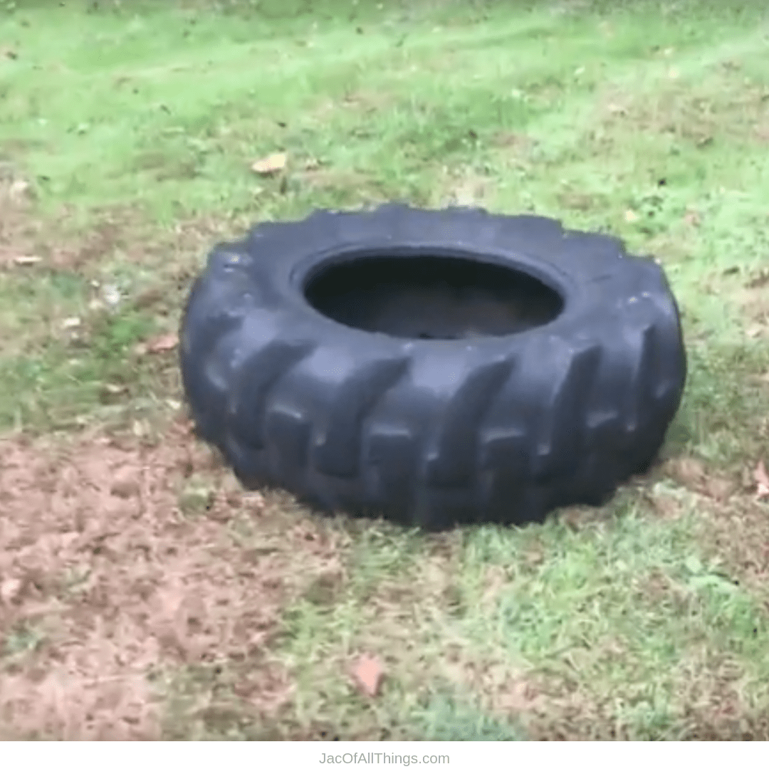Backyard Obstacle Course Ideas - tire jump