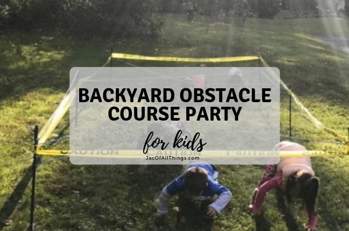 Backyard Obstacle Course Party for Kids