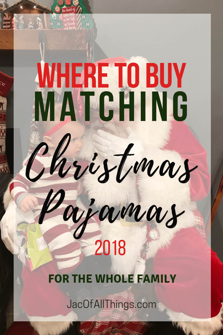 Learn where to buy matching Christmas pajamas for the whole family in 2018!