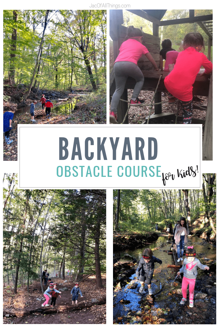 Learn how we designed a backyard obstacle course race for my daughter's birthday party. Get ideas for obstacles to include and how to plan a backyard obstacle course race! #partyideas #obstaclecourse