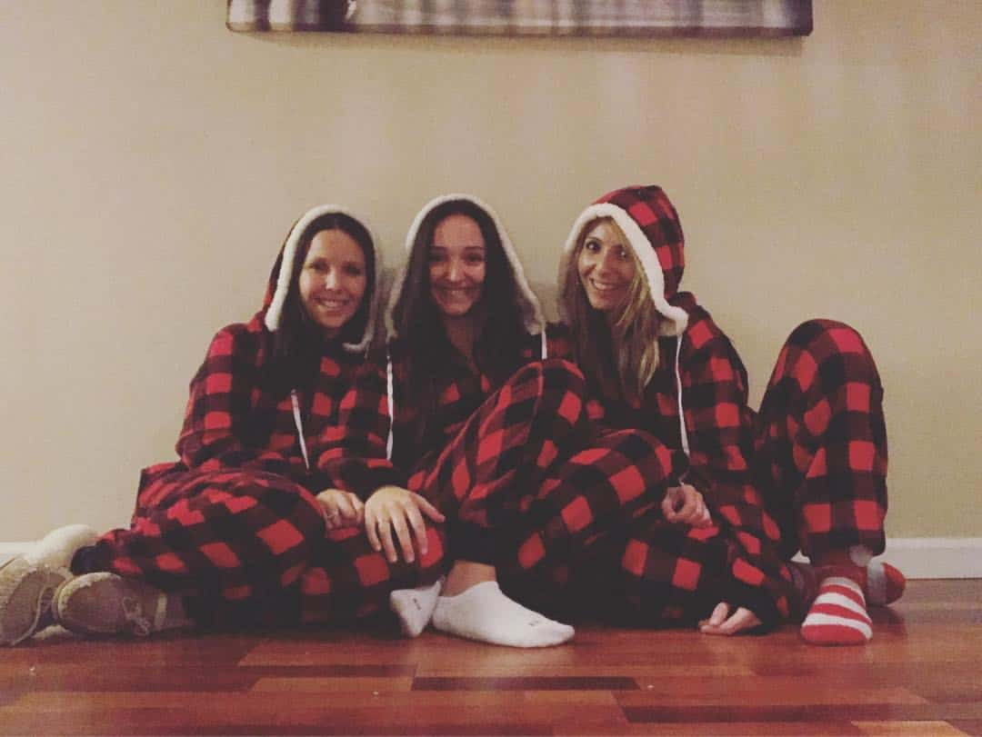 matching Christmas pajamas with my sisters
