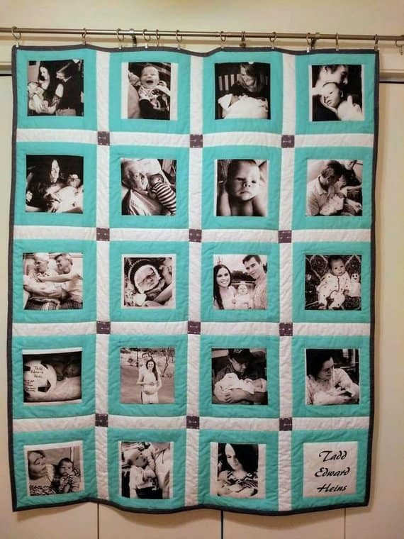 School Photos in Photo Quilt by RunningStichShop