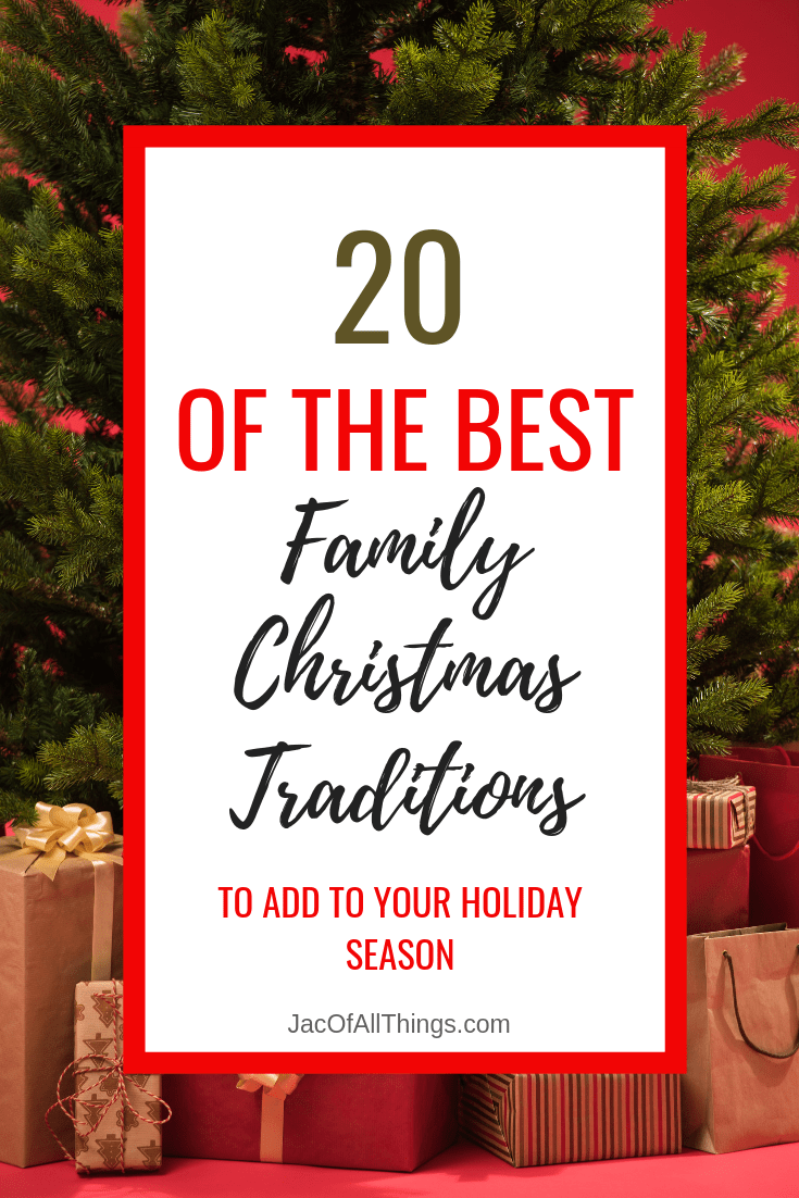 Are you looking for a good new family Christmas tradition to add to your holiday season? Look no more! Read these 20 family Christmas traditions that I collected from my favorite bloggers and friends! #christmas #christmastraditions