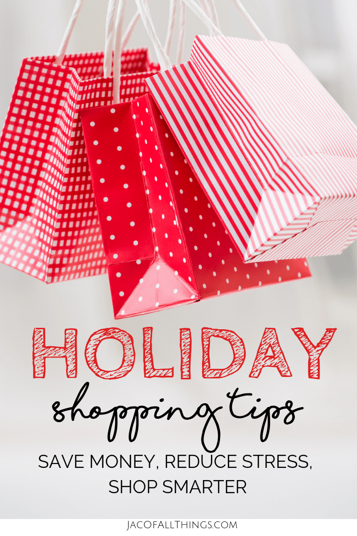 Don't let holiday shopping stress you out this year! Read these holiday shopping tips to get the best deals and save money on your shopping for Christmas. Tips for Black Friday, Cyber Monday, finding deals, and saving money. #christmas #shoppingtips #holidayshopping #christmasshopping