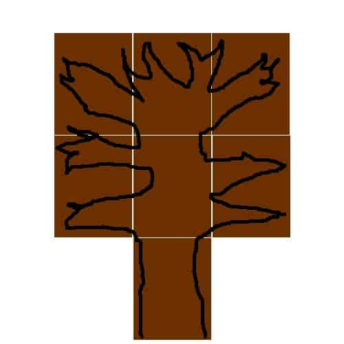 e trunk and branches of Thankful Tree draw branches