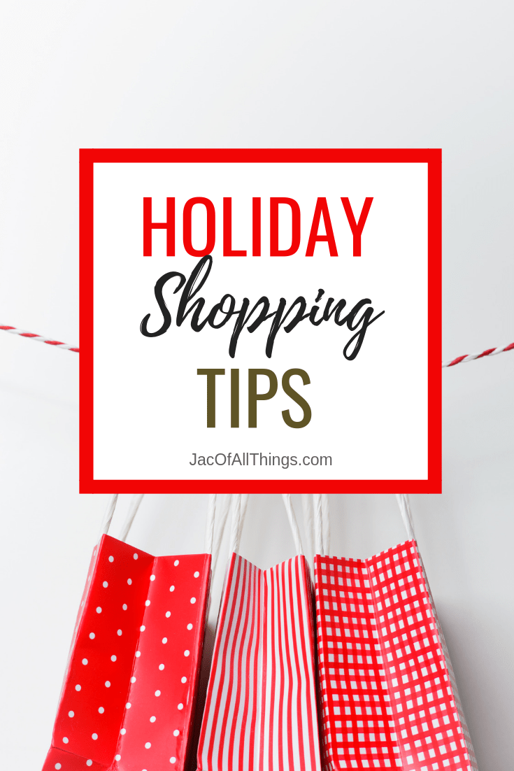 Reduce the stress of shopping this holiday season with these holiday shopping tips. Tips for Black Friday shopping, Cyber Monday shopping, how to get the best deals, budgeting and money tips, and more! #shoppingtips #holidayshopping #christmas #blackfridaytips #cybermondaytips