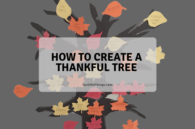 Learn how to create a Thankful Tree for children. This is the perfect exercise of gratitude for kids. (Perfect for Thanksgiving!) #gratitude #thanksgiving #thankful