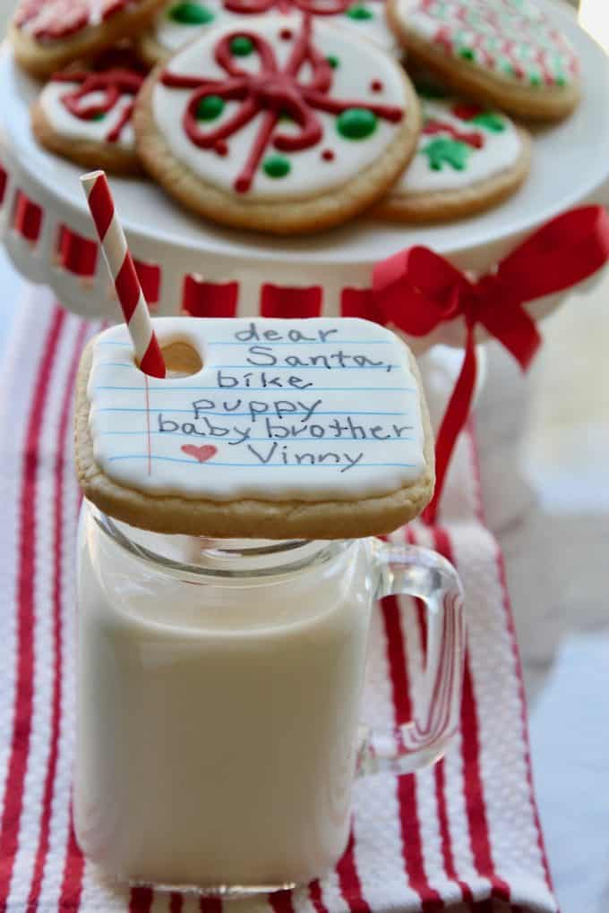 Make cookies for Santa as a family Christmas tradition
