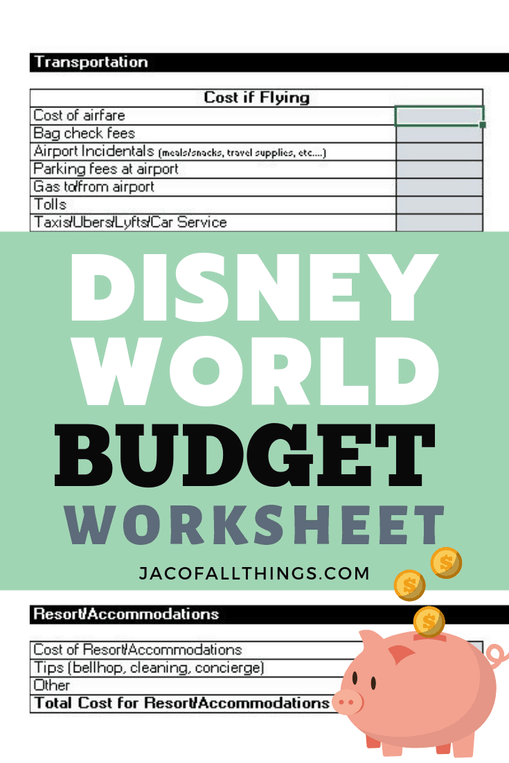 The most comprehensive Disney World budget worksheet for planning the most magical trip! Perfect for your family vacation! #disneyworld #disney #disneybudget #disneyvacations