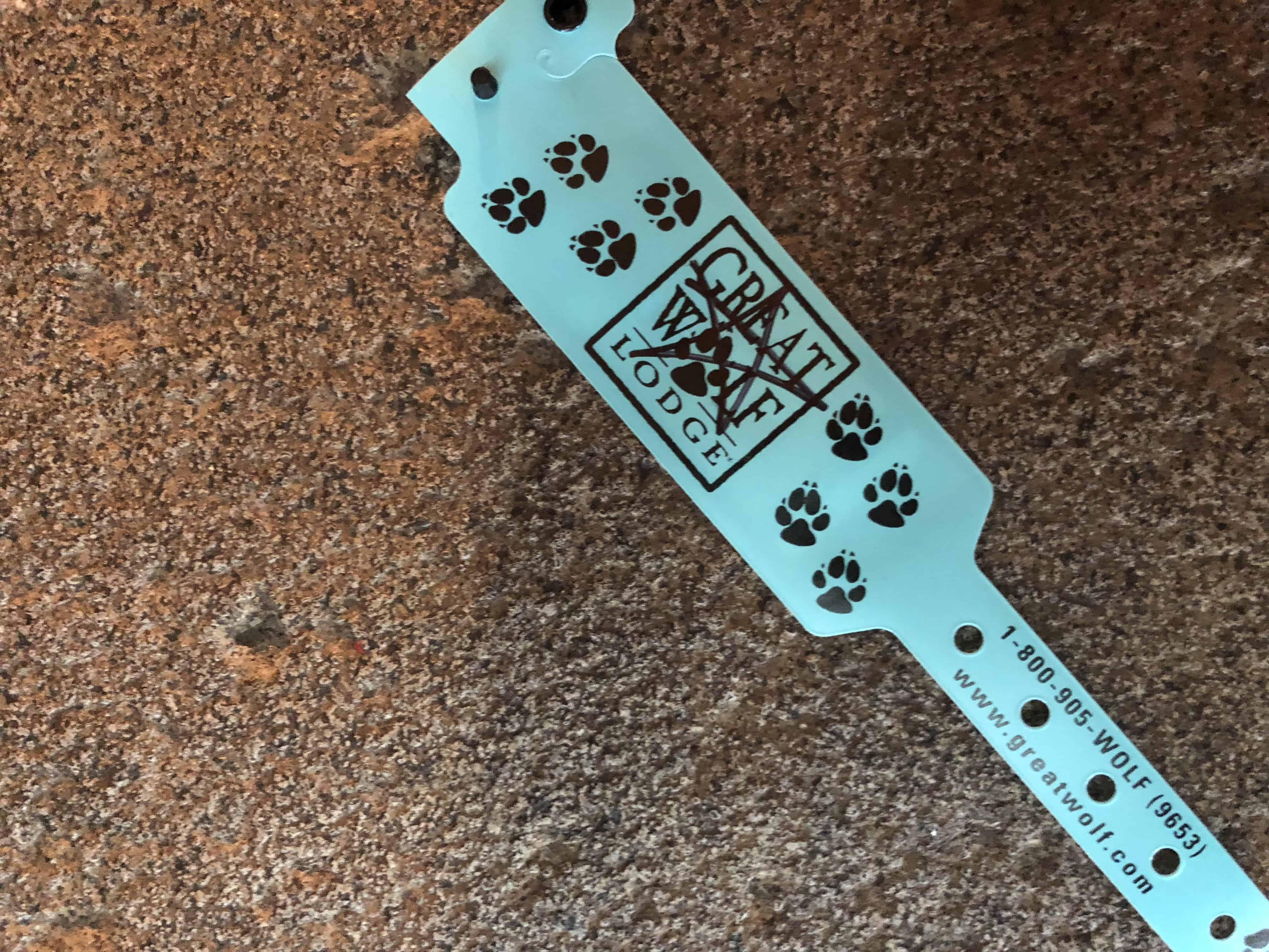 Great Wolf Lodge MA Wristbands