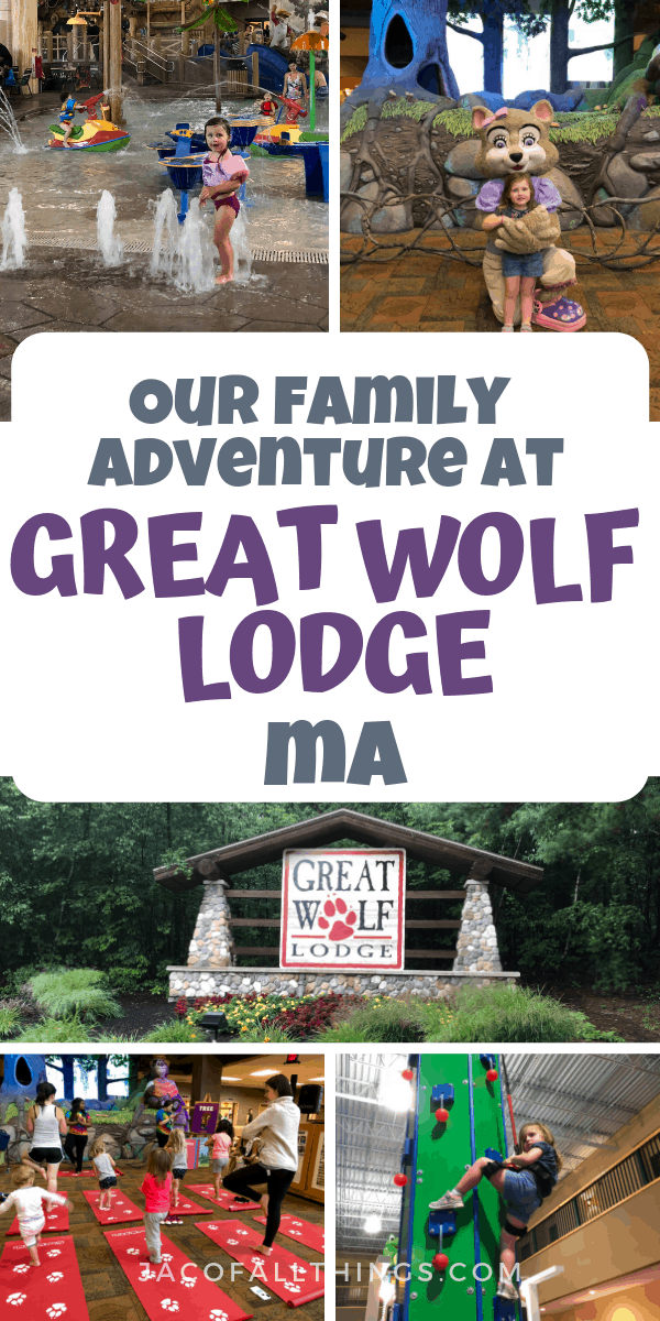 Read all about out family adventure at Great Wolf Lodge MA with toddlers. We had so much fun on this family-friendly trip! Also includes tips and tricks for your Great Wolf Lodge Adventure! #greatwolflodge #travelblogger #familytravel