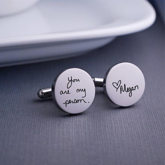 These personalized cuff links are the perfect Valentine's Day gift for him.