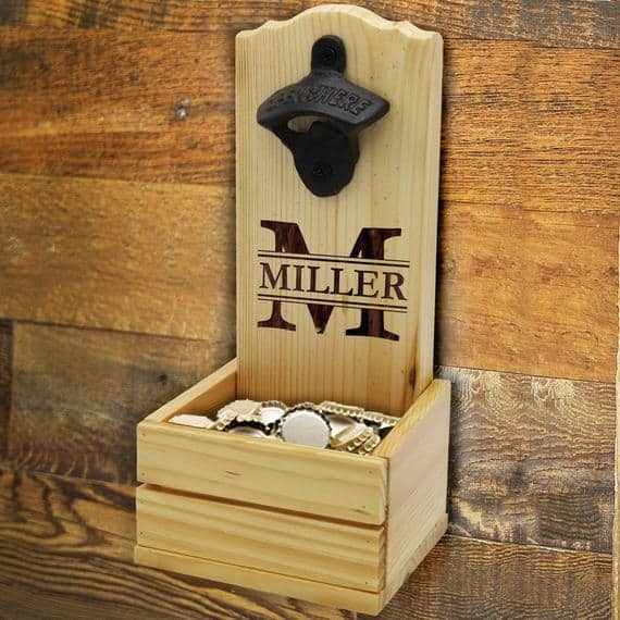 This wall mount beer bottle opener is the perfect Valentine's Day gift for him.