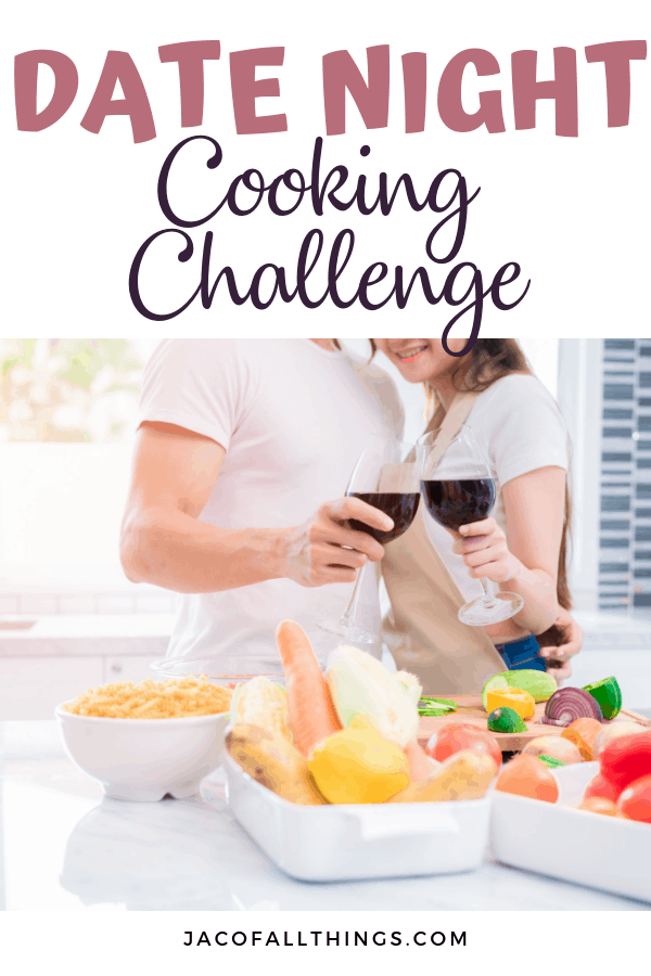 This at home date night cooking challenge was so fun! See the inside action of our date and learn how you can create your own date night cooking challenge. #datenight #dateideas